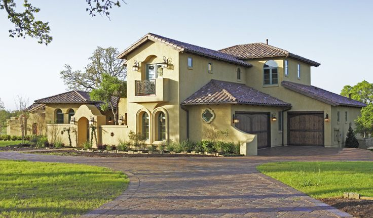 163 best images about mediterranean tuscan homes exterior for Tuscan home plans with casitas