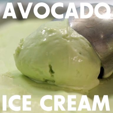 Don't knock it until you try it... Avocado Ice Cream!