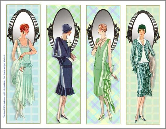 Bookmarks-1928 Deco Fashion Reflections