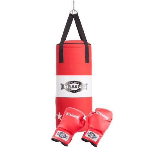 Ultrasport Boxing Gear-Series Youth Boxing Set incl. Canvas Punching Bag and Boxing Gloves