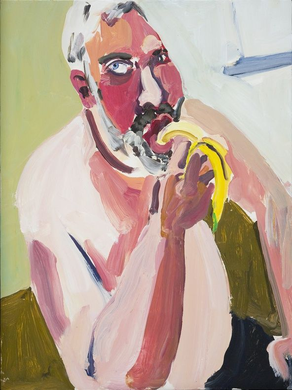 untitled work by Chantal Joffe (b. 1969), British--possesses a humorous eye for everyday awkwardness with insight and integrity (Victoria Miro)