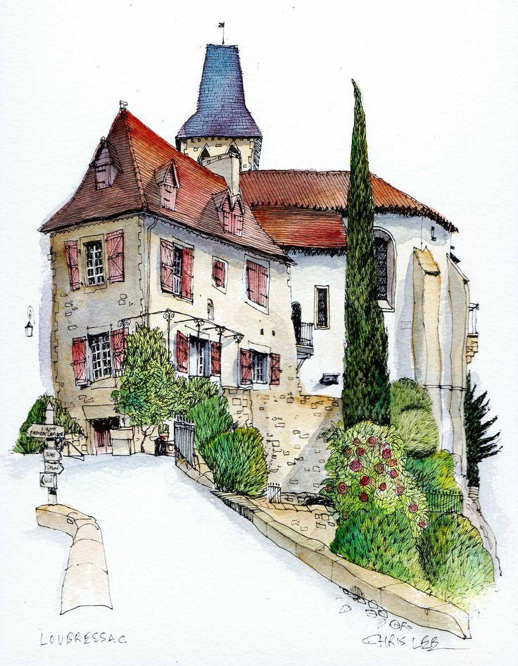 Chris lee building pinterest sketches watercolor for Chris lee architect
