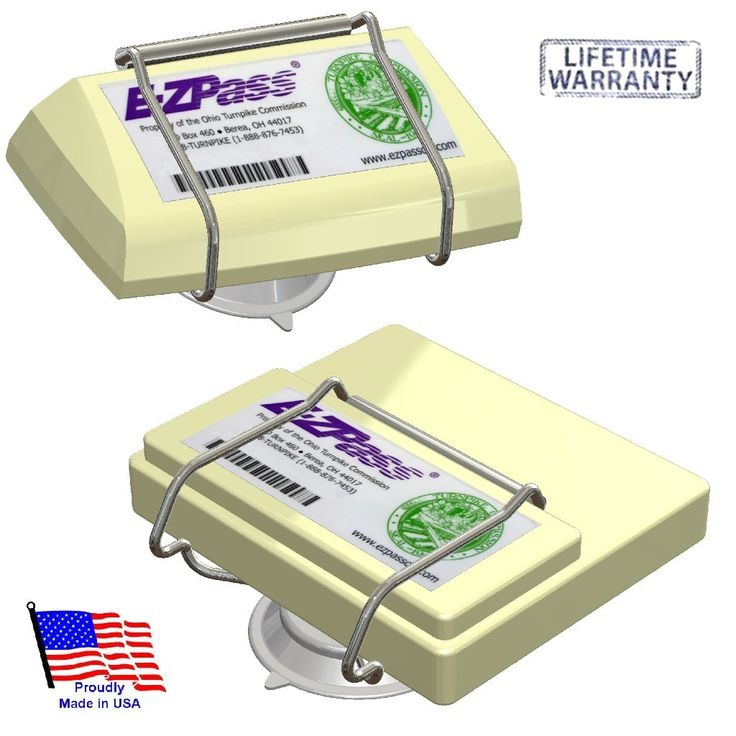 Great Father's Day gift idea, and only $6! EZ Pass-Port™   Unbreakable Toll Pass Holder for NEW and OLD E-Z Pass, I Pass & more