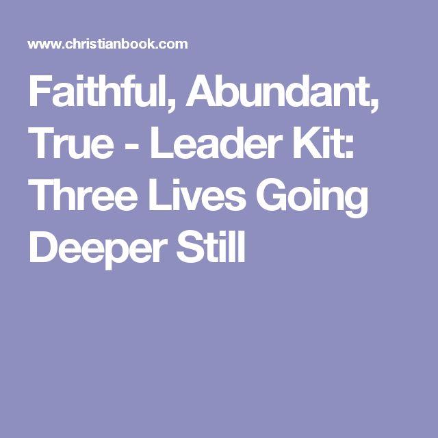 31 best church ideas images on pinterest church ideas book faithful abundant true leader kit three lives going deeper still fandeluxe Images