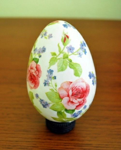 Osterdeko basteln - Decoupage on Easter egg