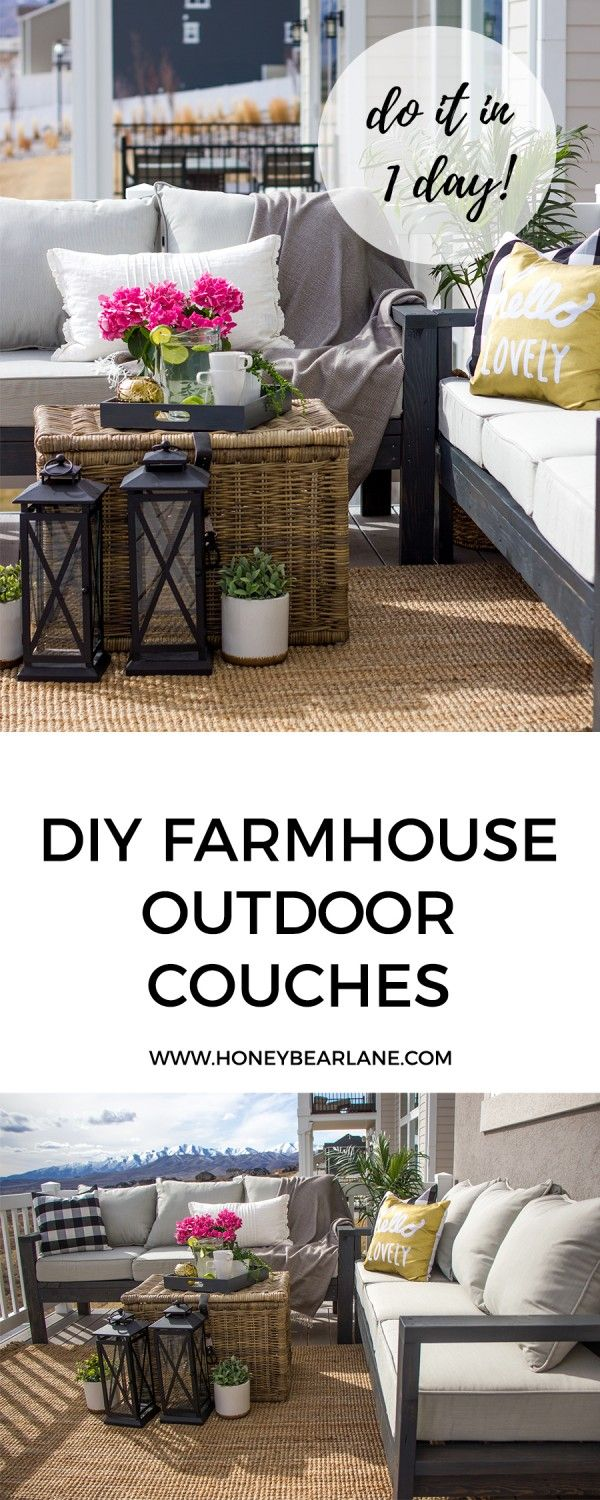 Check out the tutorial for DIY farmhouse outdoor couches @istandarddesign