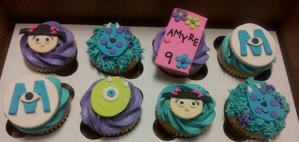 Monsters INC. Cupcake <3 【モンスターズインク】 モンスターズインクのカップケーキ♡