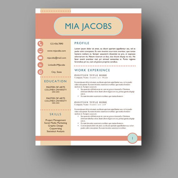 the 58 best images about professional resume template on pinterest