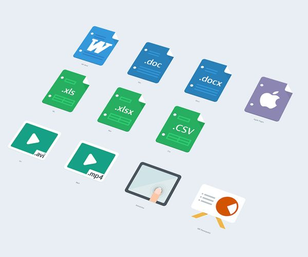 Flat icons by Tomasz Zagórski, via Behance
