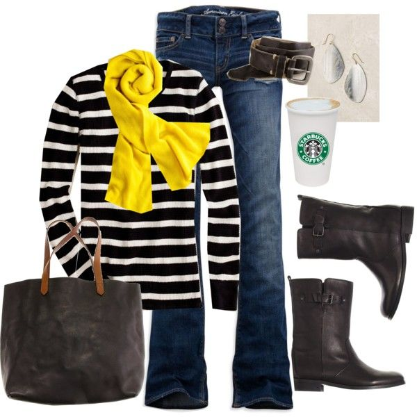 stripes: Looks Yellow, Add Colors, Yellow Scarfs, Outfit, Starbucks Cups, Yellow Scarves, Stripes Forever, Yellow Accent, Accessories