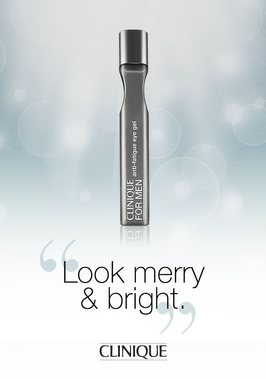 Instant relief for the guy in your life. The #Clinique Anti-Fatigue Cooling Eye Gel instantly revitalizes, hydrates and brightens tired-looking eyes. #Gifts