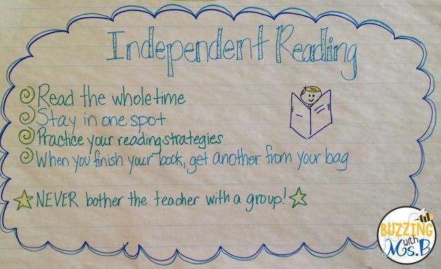 Buzzing with Ms. B: Guided Reading: What Are the Other Students Doing?   In order to maximize your guided reading time as well as the independent   working time of your kids, rituals and routines are incredibly   important! Independent reading and responses make up an important part   of these routines.