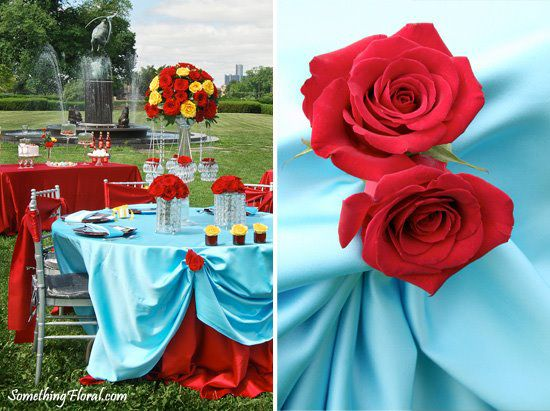 Tiffany Blue And Red Wedding Centerpieces Www Pixshark