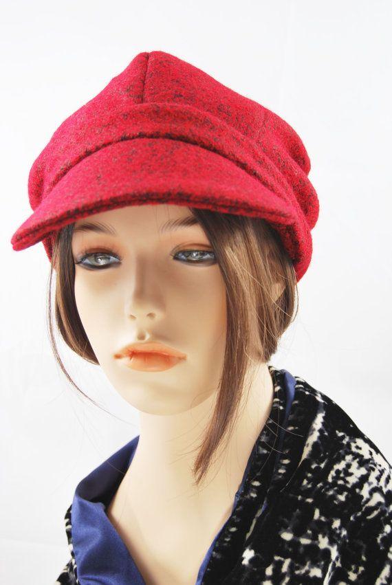 Red Wool Peak Hat