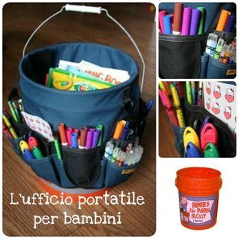 Come organizzare un ufficio portatile per bambini - BabyGreen