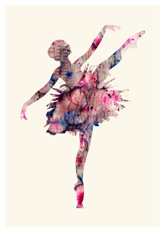Ballet Art Print - Watercolor Ballerina - Watercolor Ballet Art - Ballerina Wall Poster SIZE: American standards: 5х7 in 8,5х11 in 11х14 in