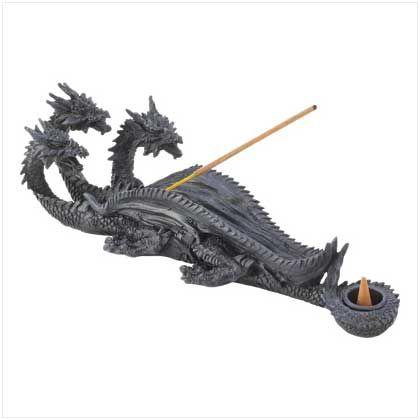 Triple-head Dragon Incense Burner @RockyRiverDepot  #home #gifts