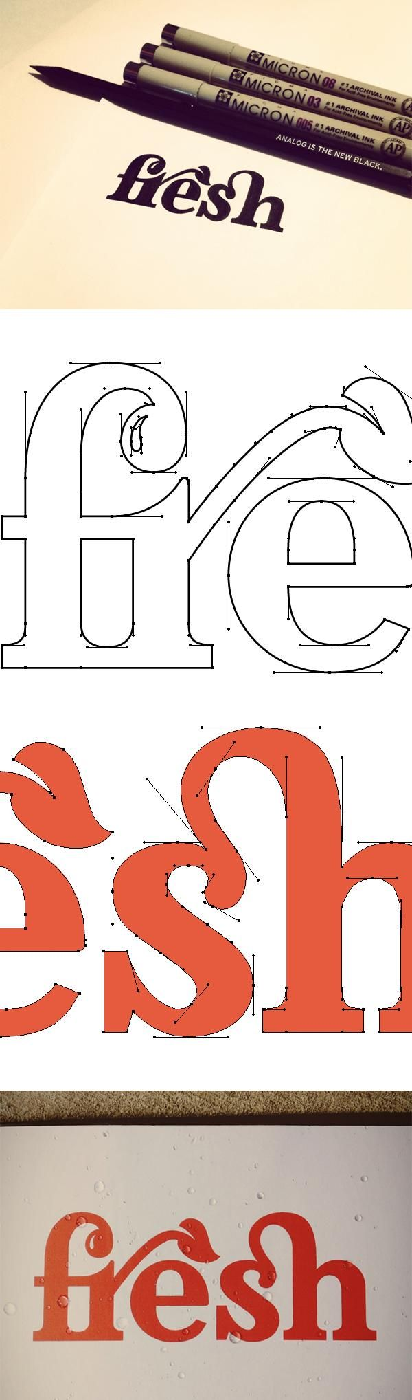 //typographic identity design featuring ligatures