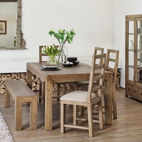 Cotswold Reclaimed Wood Dining Table And Chairs Lifestyle