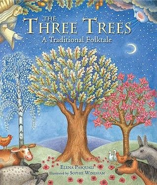 The Three Trees: A Traditional Folktale - Elena Pasquali; Varsta 3+; Trei copaci din padure viseaza la ceea ce vor deveni intr-o zi, dar pe masura ce sunt doborati visele li se naruiesc. Cu toate acestea, pe masura ce din feicare copac iau viata lucruri importante cu rol imens: o iesle , o barcă de pescuit și o cruce sperantele lor sunt implinite. Cel mai potrivita pentru Craciun, dar se poate citi si de Pasti sau pentru a prezenta anotimpurile.