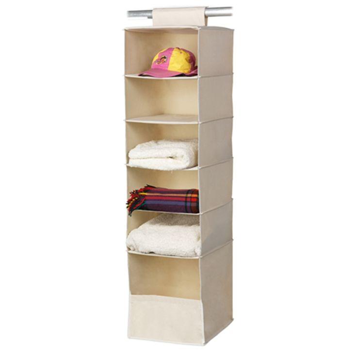 Harmony 6 Shelf Premium Hanging Wardrobe Organiser
