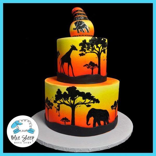 Vibrant Safari-Themed Cake, Craftsy Member Project