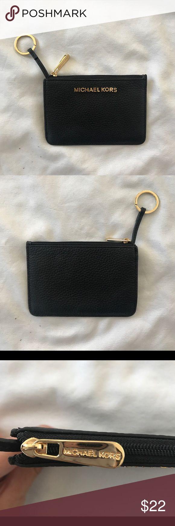 Michael Kors Coin Purse Beautiful black leather coin purse in amazing condition! Michael Kors Bags Wallets