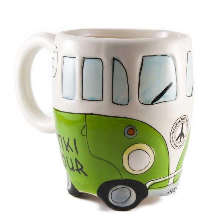 The Great Kiwi Road Trip Combie Mug Green