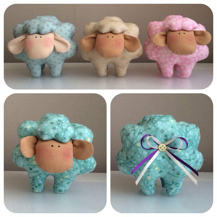 Lamb sheep tilda style room decoration, oveja, hogar, alfiletero  от UnBonDiaHandmade на Etsy, €12,00