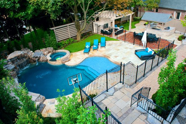 Pool Traditional Pool Small Easy Small Backyard Landscaping Designs Outdoor Pool Landscaped Backyard Ideas