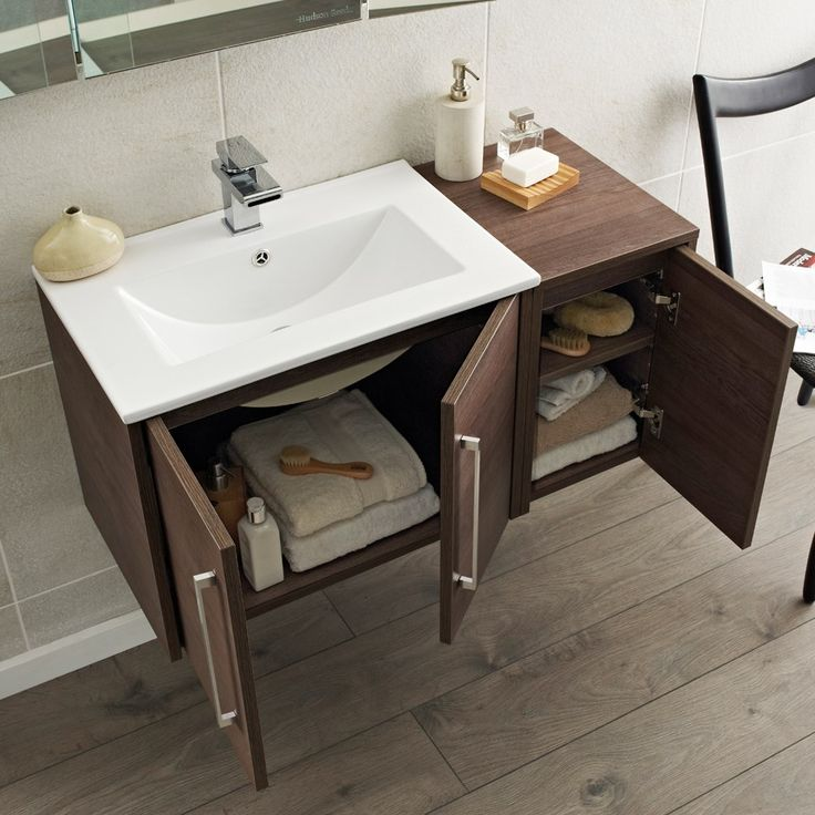 Best Photo Gallery Websites Create a luxury look with the Horizon Mid Sawn Oak vanity unit from Hudson Reed