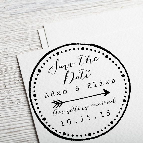 Custom Save the Date Stamps  Save the date stamps  by DivineStamps