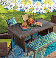 Beautiful ... Plastic Outdoor Rugs · 9ft Blue Aberdeen Umbrella Canopy ...
