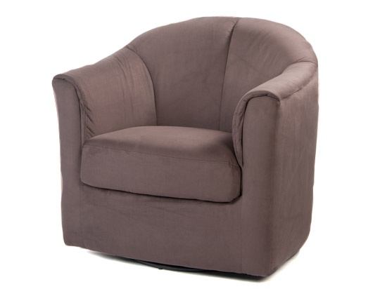 "Scandinavian Designs  Taranto Swivel Chair  $279 (regular price 329)  33"" W x 32"" D x 32"" H  multiple colors"