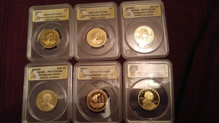 2007S  Sacagawea Dollar, 2008s x2, 2009s x3 proof70dcam anacs   Coins & Paper Money, Coins: US, Dollars   eBay!