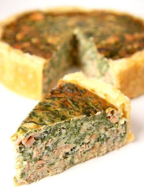 La Cuisine de Bernard: La Quiche Épinards et Saumon Fumé