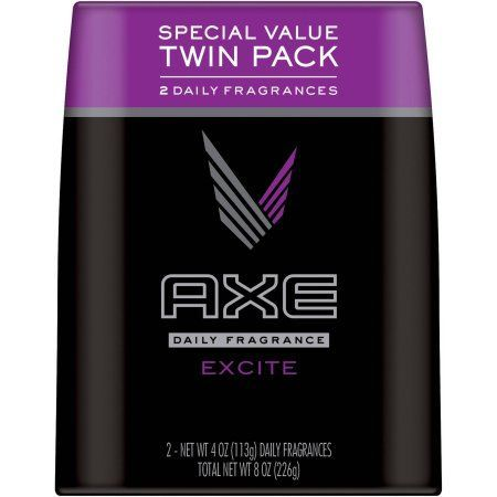 AXE Excite Body Spray for Men, 4 oz, Twin Pack