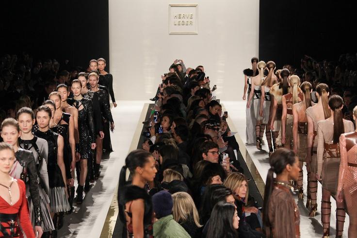 Herve Leger - New York Fashion Week - Fall 2012    © Simon Ackerman  www.simonackerman.co.uk
