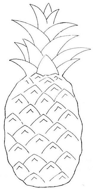 wb_pineapple by amommy22, via Flickr  #coloring page #embroidery #wool applique