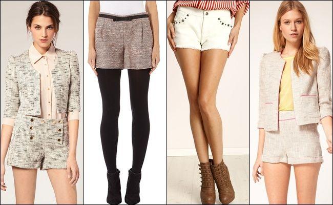 Модные женские шорты 2013