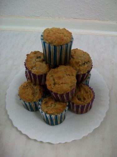 Muffins de plátano y pasas para #Mycook http://www.mycook.es/receta/muffins-de-platano-y-pasas/
