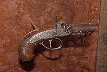 The Phidelphia Derringer pistol Boot used to murder Lincoln