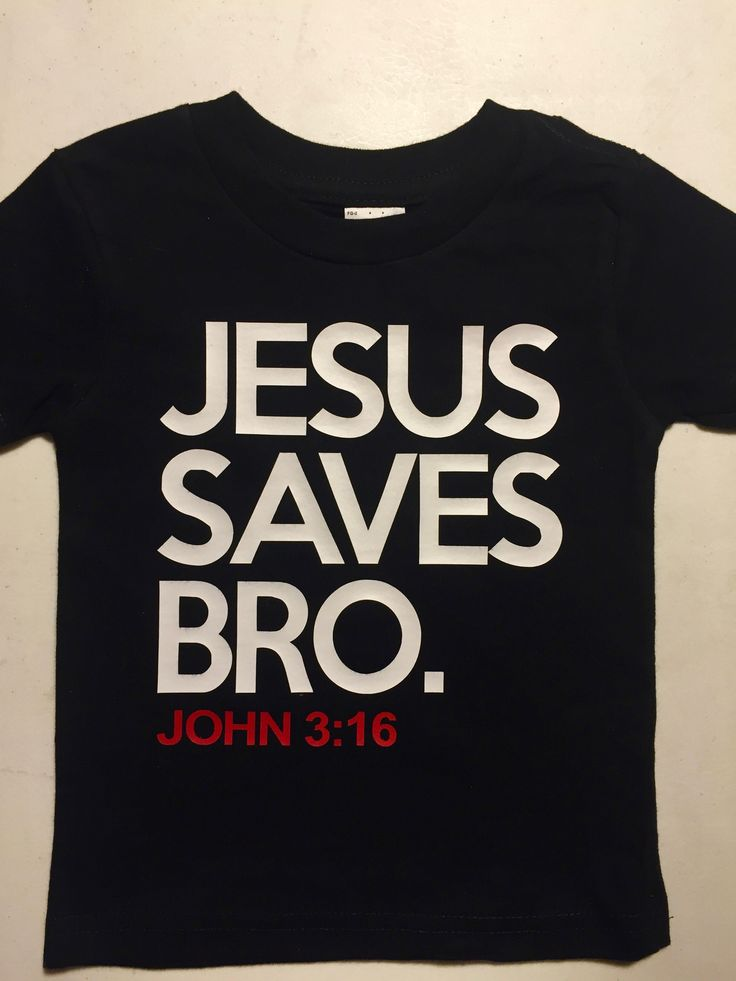 """""""Jesus Saves Bro"""" is a t-shirt for those who just want to show the gospel to others around them. Under the text """"John 3:16"""" is displayed in red, one of the most memorized verses of all time. This t-sh More"""