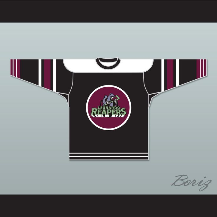 """Leonardo Reapers Achmetha 45 Street Hockey Jersey. STITCH SEWN GRAPHICS  CUSTOM BACK NAME CUSTOM BACK NUMBER ALL SIZES AVAILABLE SHIPPING TIME 3-5 WEEKS WITH ONLINE TRACKING NUMBER Be sure to compare your measurements with a jersey that already fits you. Please consider ordering a larger size, if you prefer a loose fit. HOW TO CALCULATE CHEST SIZE: Width of your Chest plus Width of your Back plus 4 to 6 inches to account for space for a loose fit. Example: 18"""" wide chest plus 18"""" wide back…"""
