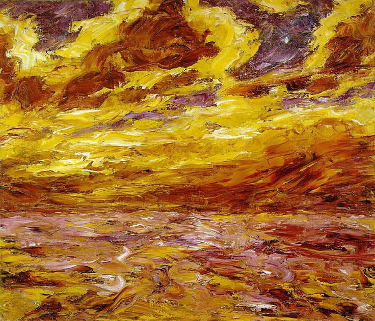 "tierradentro:  ""Autumn Sea VII"", Emil Nolde. Wednesday special: #expressionistnature"