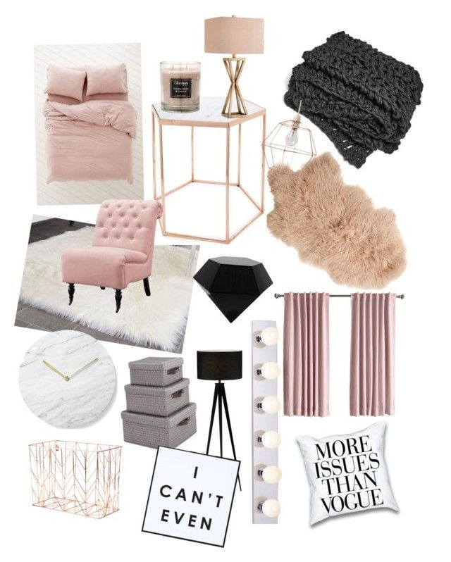 """23 Best Copper And Blush Home Decor Ideas And Designs For 2019: """"Rose Gold !!!"""" By Miah-grayer On Polyvore Featuring"""