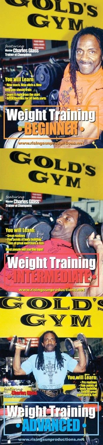 DVDs Videos and Books 73991: Weight Training 3 Dvd Set Charles Glass Bodybuilding Mr Olympia Martial Arts Mma BUY IT NOW ONLY: $69.95