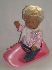 Zapf Creation 805374 Baby Born Puppe mit Schlitten ohne Hund