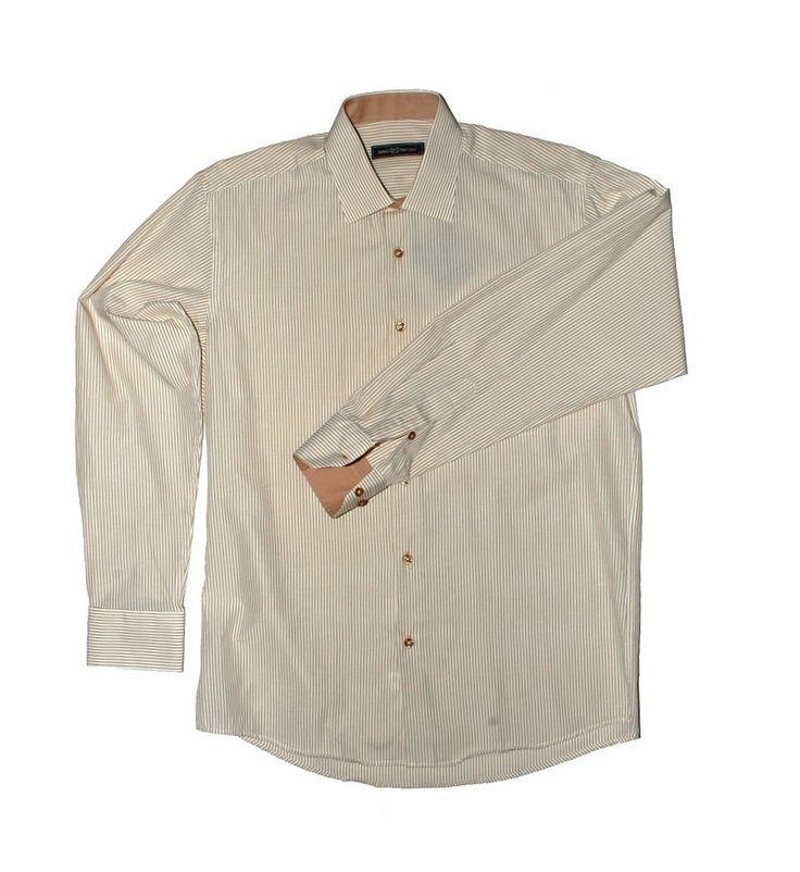 Коричневая рубашка в полоску