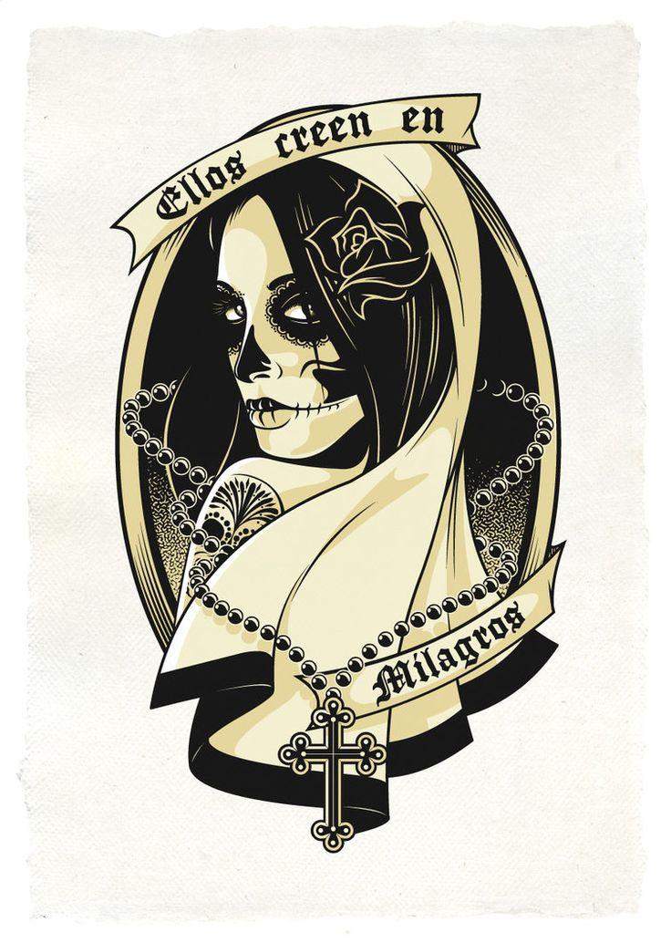 sexy sugar skull girl drawing mes sites tattoo girl